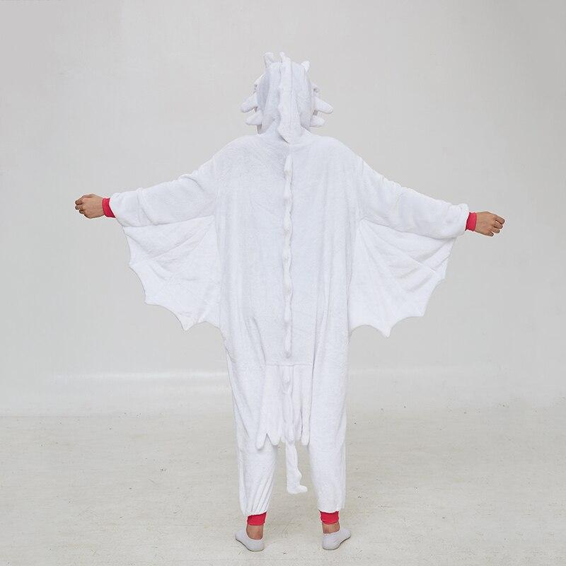 Animal Kigurumis Onesies Women Pajama Homewear Adult Cartoon Toothless Dragon Rompers Unisex Flannel Sleepwear Costume Apparel 3