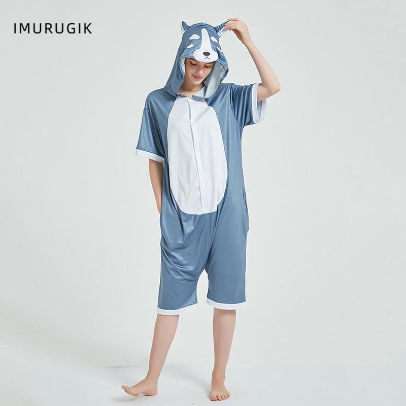 Halloween Costumes Kigurumis Onesie Jumpsuits Husky cosplay Adult Costume Animal Home wear Pajama Funny Cute OneisesCarnival 1
