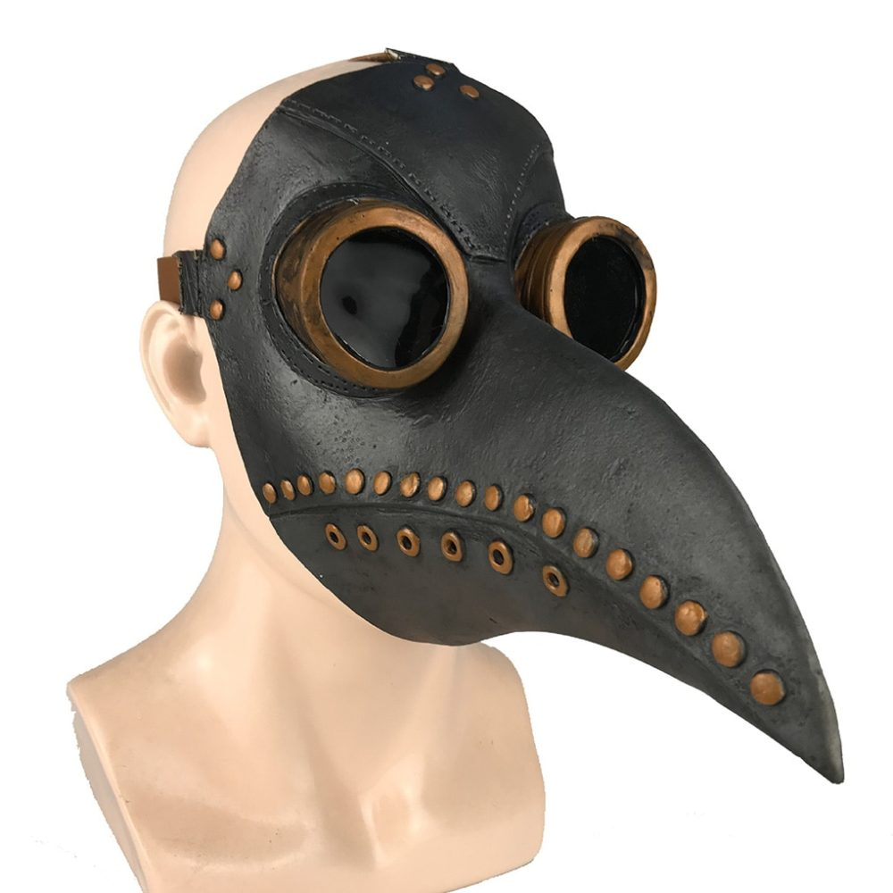 Funny Medieval Steampunk Plague Doctor Bird Mask Latex Punk Cosplay Masks Beak Adult Halloween Event Cosplay Props RB 1