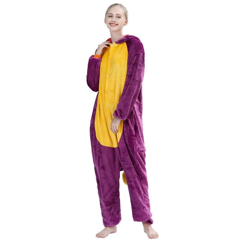Spyro Dragon Onesie Anime Cartoon Kigurumis Purple Animal Pajama Women Men Adult Funny Suit Winter Warm Cute Sleepwear Jumpsuit 3