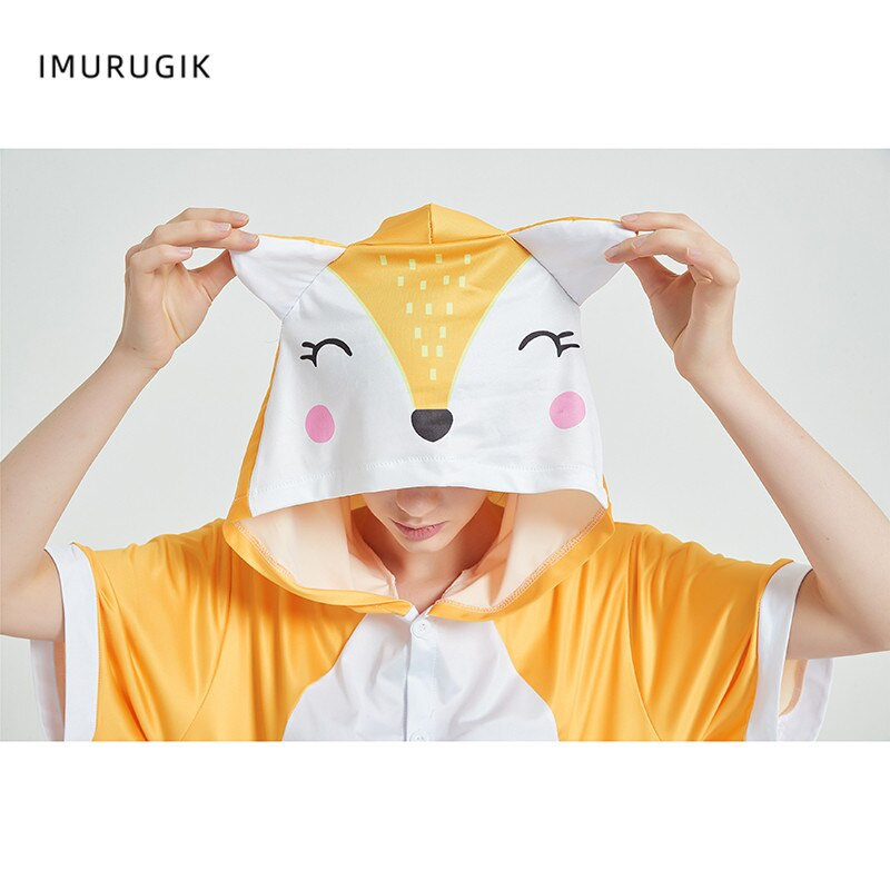 Halloween Costumes Kigurumis Onesie Jumpsuits Fox Cosplay Adult Costume Animal Home wear Pajama Funny Cute OneisesCarnival 6