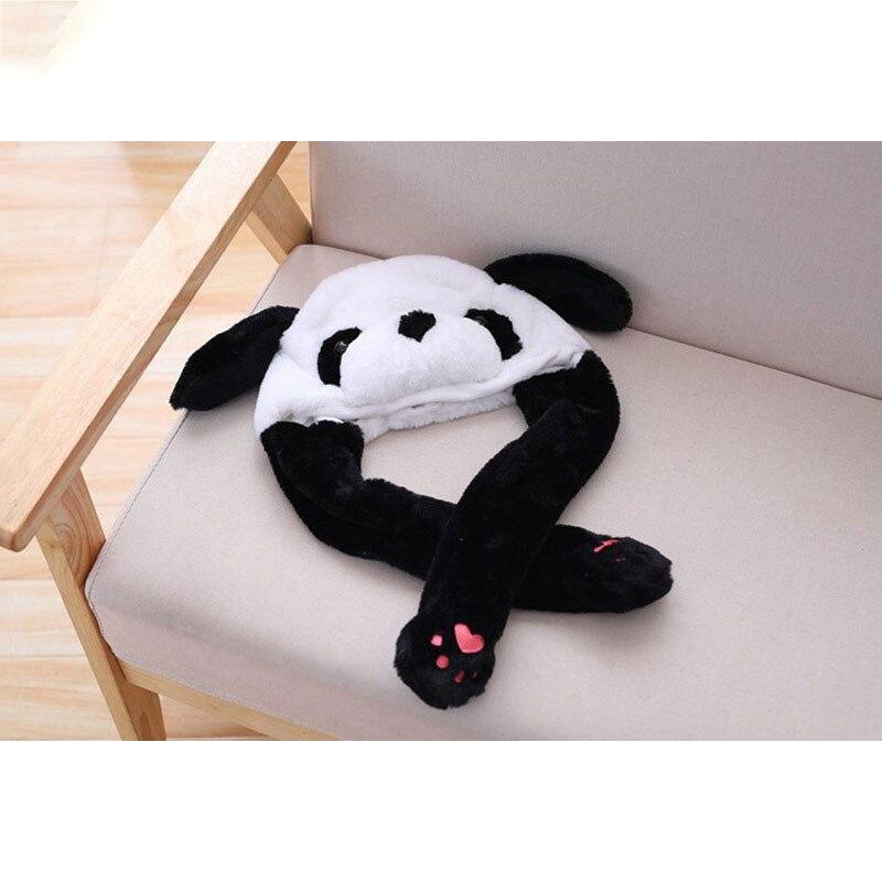 Panda Hat Ears Waggle Cute Funny Headgear Women Men Winter Warm Headwear Animal Cosplay Prop 5