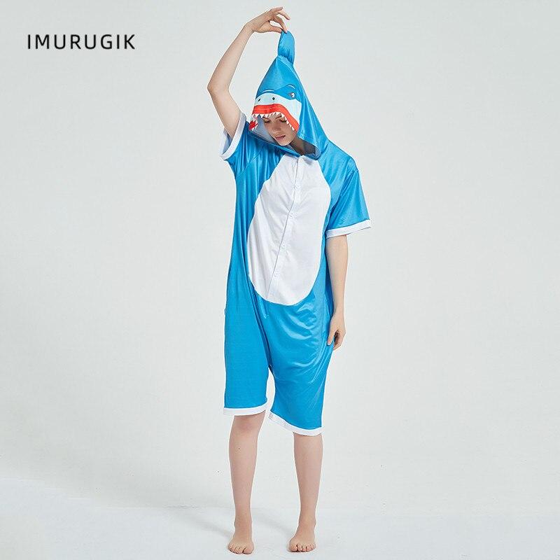 Cosplay Costumes Kigurumis Onesie Jumpsuits Shark Adult Costume Animal Home wear Pajama Funny Cute Oneises Halloween Carnival 3