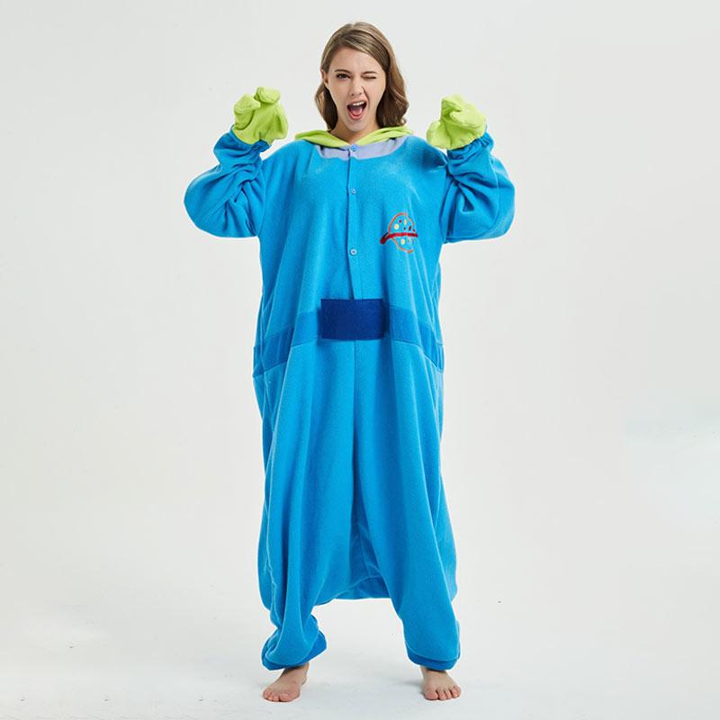 Anime Onesie Pajama for Adult Men Women 3 eyes Monster Kigurumis Winter Cool Jumpsuit Halloween Festival Outfit Good Quality 1