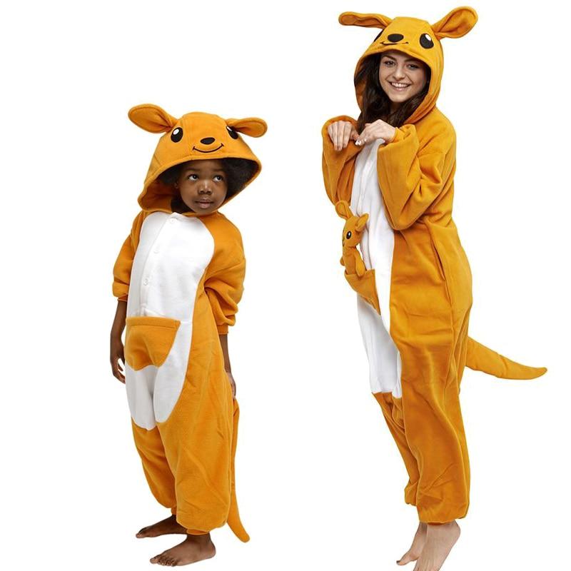 Adult Women Pajamas Polar Fleece Sleepwear Pajama Animal Kangaroo Children's Pijama Onesie Homewear Winter Party Cute Pyjamas 1