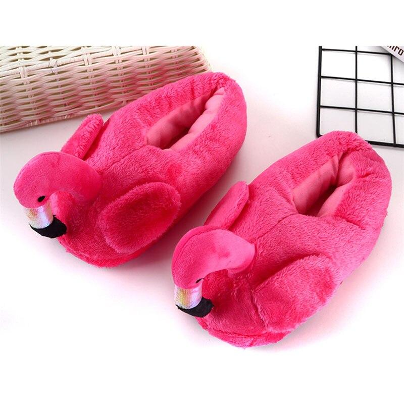 Cartoon Animal Slippers Adult Shoes Kigurumis Kawaii Indoor Home Shoes Cute Flamingos Cosplay Household Cotton Shoes Women 2