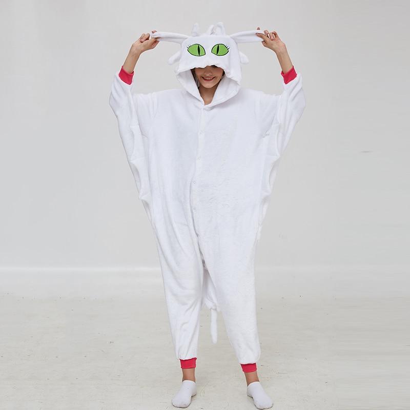 Animal Kigurumis Onesies Women Pajama Homewear Adult Cartoon Toothless Dragon Rompers Unisex Flannel Sleepwear Costume Apparel 1