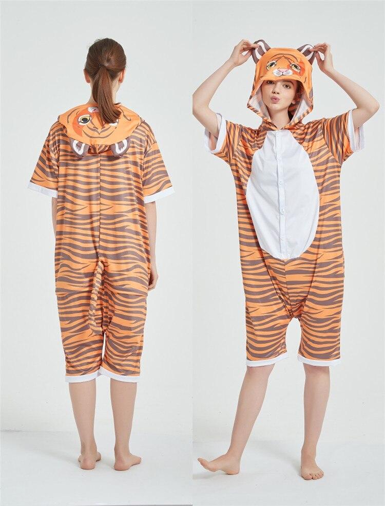 Cosplay Costumes Kigurumis Onesie Jumpsuits Tiger Adult Costume Animal Home wear Pajama Funny Cute Oneises Halloween Carnival 7