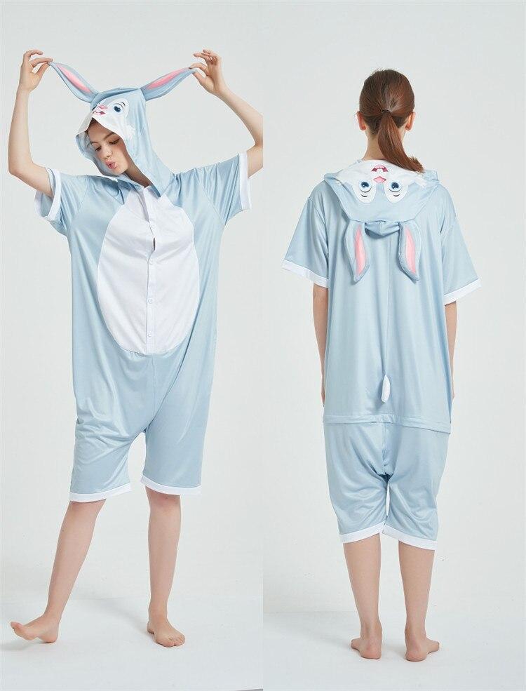 Cosplay Costumes Kigurumis Onesie Jumpsuits Rabbit Adult Costume Animal Home wear Pajama Funny Cute Oneises Halloween Carnival 7