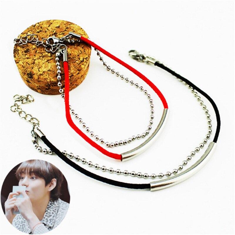 Kpop SUGA Dolphin Tail Pendant Charm Bracelet Women Bileklik Men Jewelry B076 5