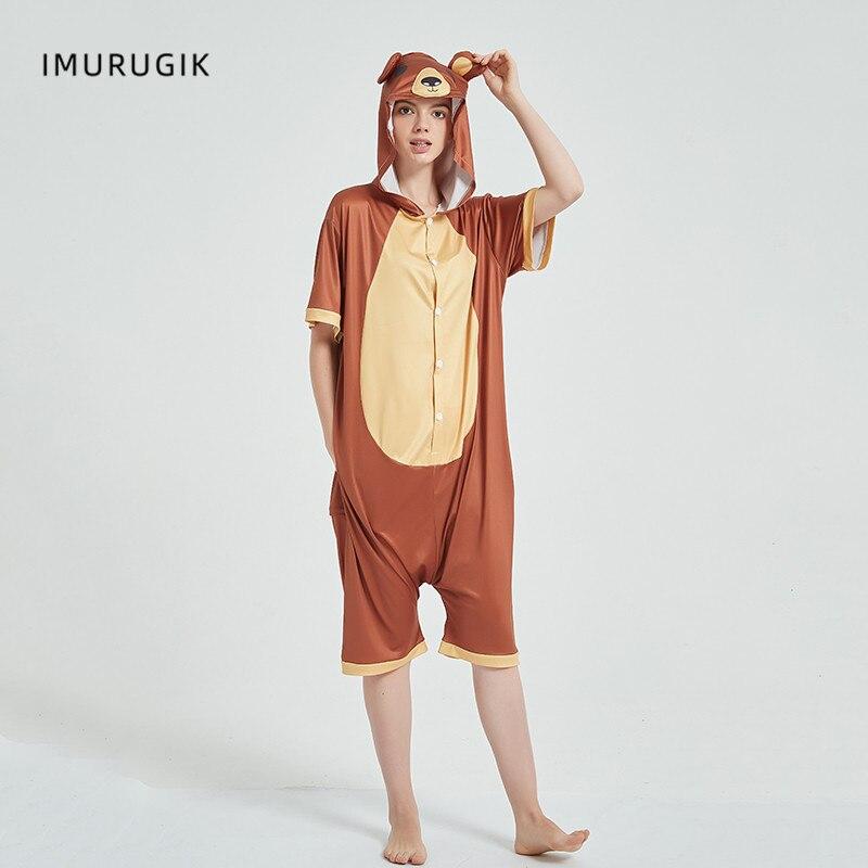 Cosplay Costumes Kigurumis Onesie Jumpsuits Bear Adult Costume Animal Home wear Pajama Funny Cute Oneises Halloween Carnival 4