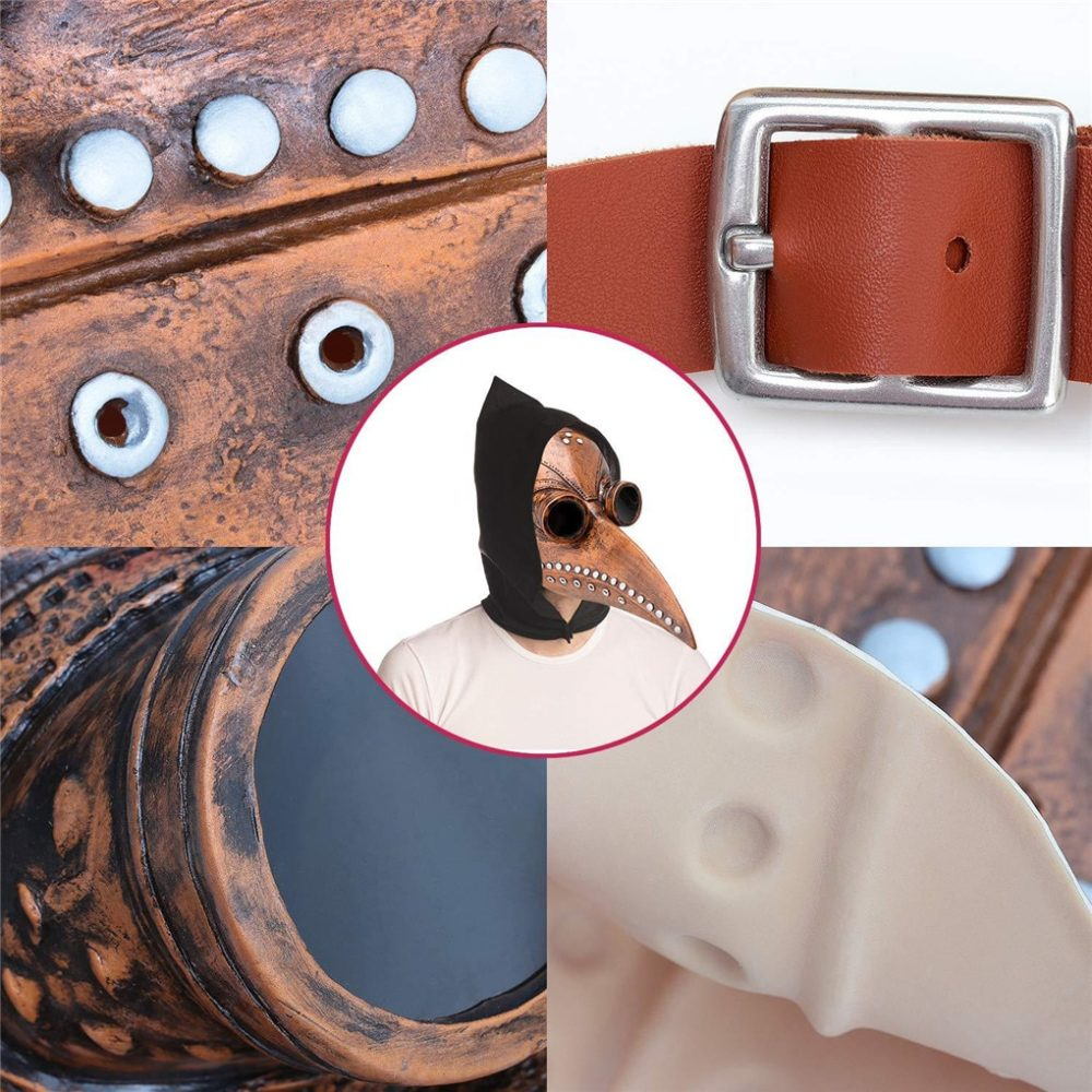 Funny Medieval Steampunk Plague Doctor Bird Mask Latex Punk Cosplay Masks Beak Adult Halloween Event Cosplay Props RB 6