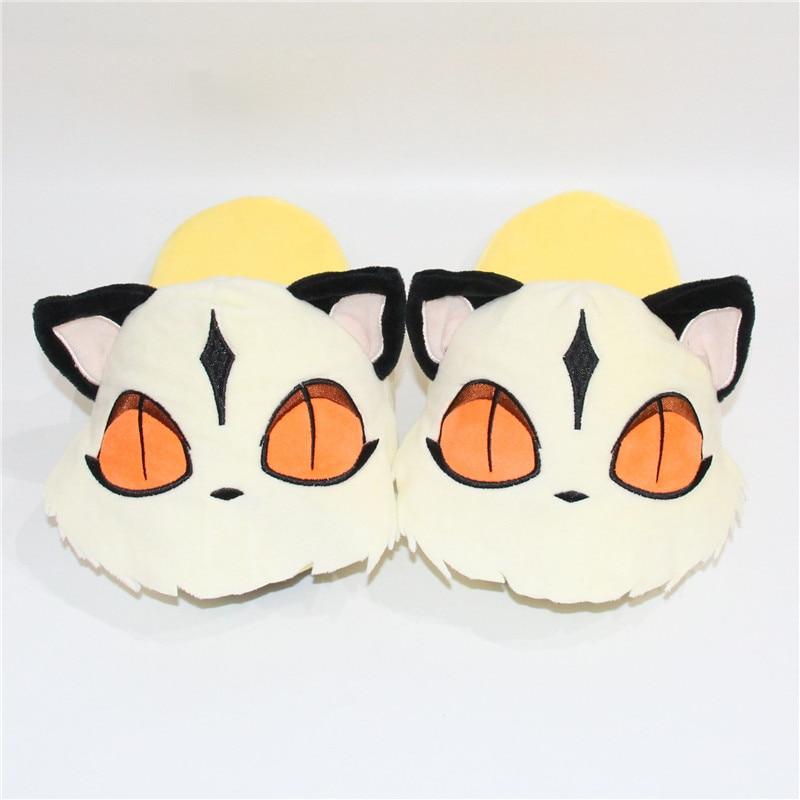 Winter Plush Cotton Slippers Women Men Anime Kirara Cat Funny HomeShoes  Animal Kigurumis Adult Festival Non-Slip Household 1