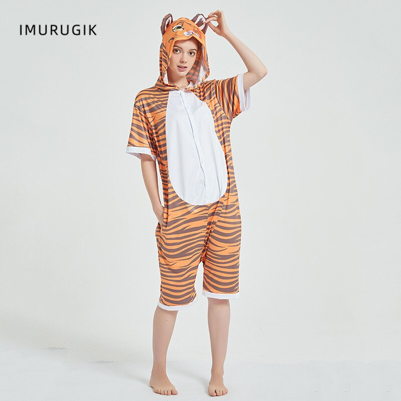 Cosplay Costumes Kigurumis Onesie Jumpsuits Tiger Adult Costume Animal Home wear Pajama Funny Cute Oneises Halloween Carnival 5