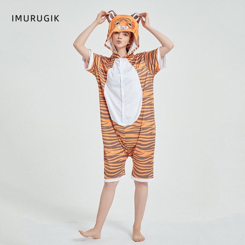 Cosplay Costumes Kigurumis Onesie Jumpsuits Tiger Adult Costume Animal Home wear Pajama Funny Cute Oneises Halloween Carnival 6