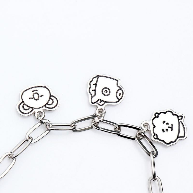 Charm Bracelets Jewelry Stainless Steel Animal Accessories Korean Bracelets for Women Couple Bracelet Kpop Gift for Girl Friends 5