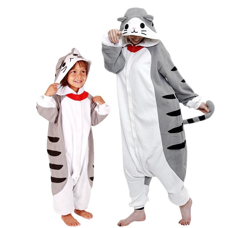 Chi Cat Onesie Women Pajamas Kawaii Kitty PajamaSleepwear Animal Kigurumis Girl Adult Kids Overall Winter WarmFunny Nightwear 1