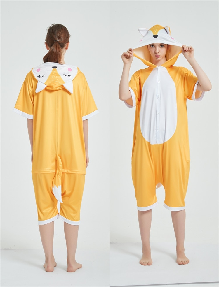 Halloween Costumes Kigurumis Onesie Jumpsuits Fox Cosplay Adult Costume Animal Home wear Pajama Funny Cute OneisesCarnival 7
