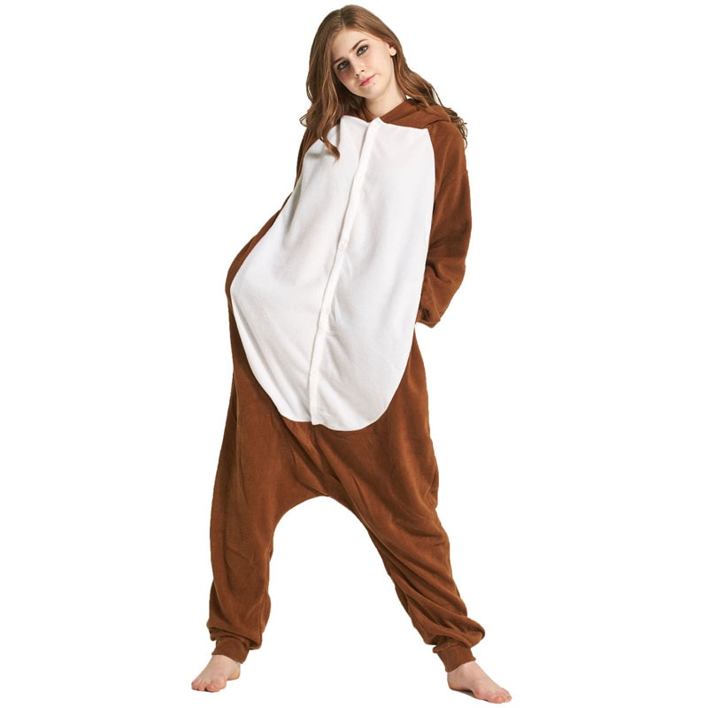 Monkey Women Onesie Pajama Adult kigurumis Sleepwear Funny Festival Long sleeve warm Cosplay Party Jumpsuit Unisex Costume 4