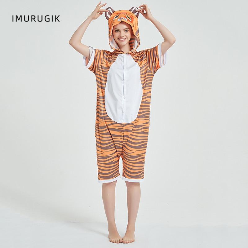 Cosplay Costumes Kigurumis Onesie Jumpsuits Tiger Adult Costume Animal Home wear Pajama Funny Cute Oneises Halloween Carnival 1