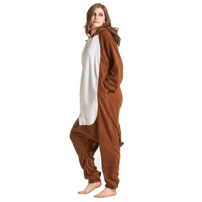 Monkey Women Onesie Pajama Adult kigurumis Sleepwear Funny Festival Long sleeve warm Cosplay Party Jumpsuit Unisex Costume 3