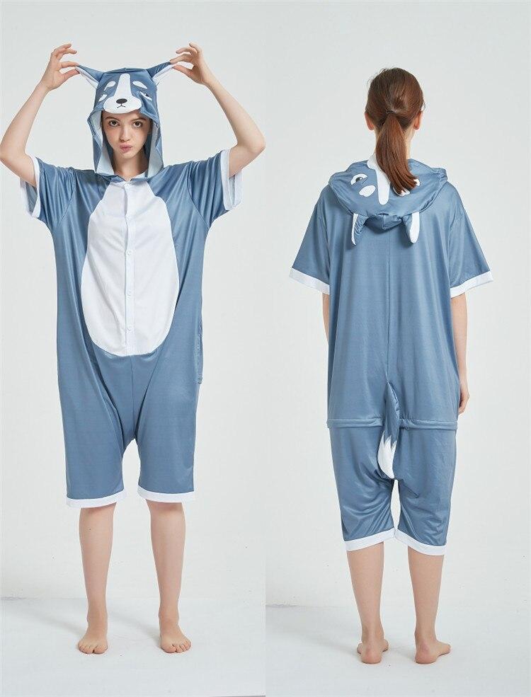 Halloween Costumes Kigurumis Onesie Jumpsuits Husky cosplay Adult Costume Animal Home wear Pajama Funny Cute OneisesCarnival 7