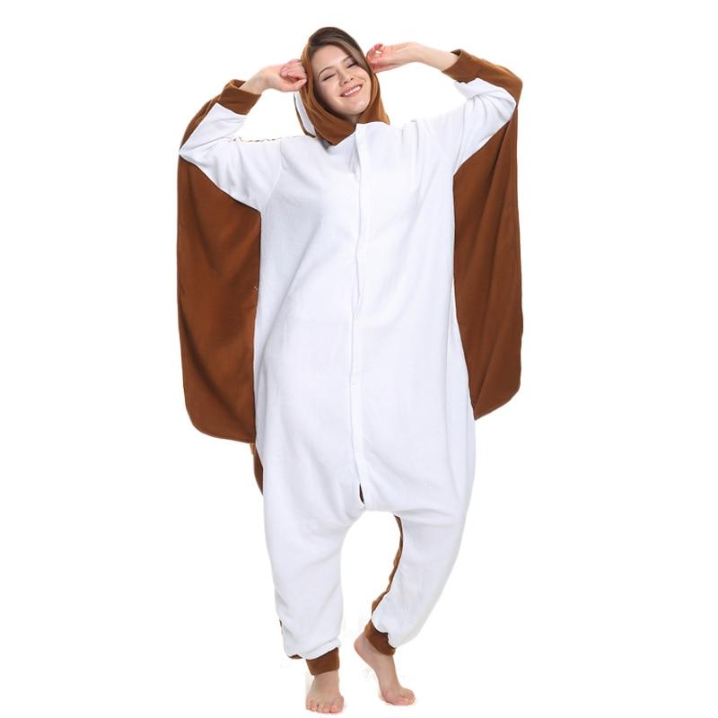 Flying Mouse Animal Women Pajama Suit Sleepwear Homewear Adult Onesie Funny Polar Fleece Pijamas Party Costume Plus Size 1