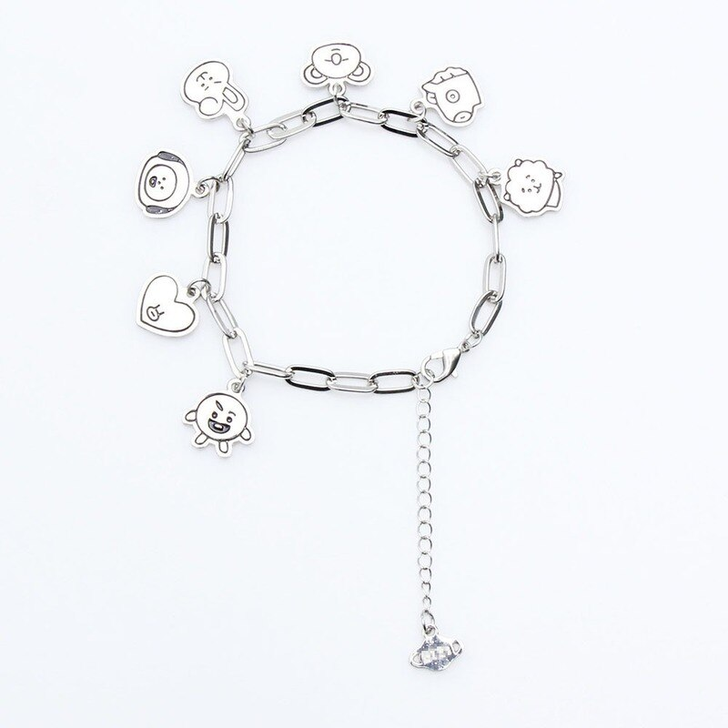 Charm Bracelets Jewelry Stainless Steel Animal Accessories Korean Bracelets for Women Couple Bracelet Kpop Gift for Girl Friends 2