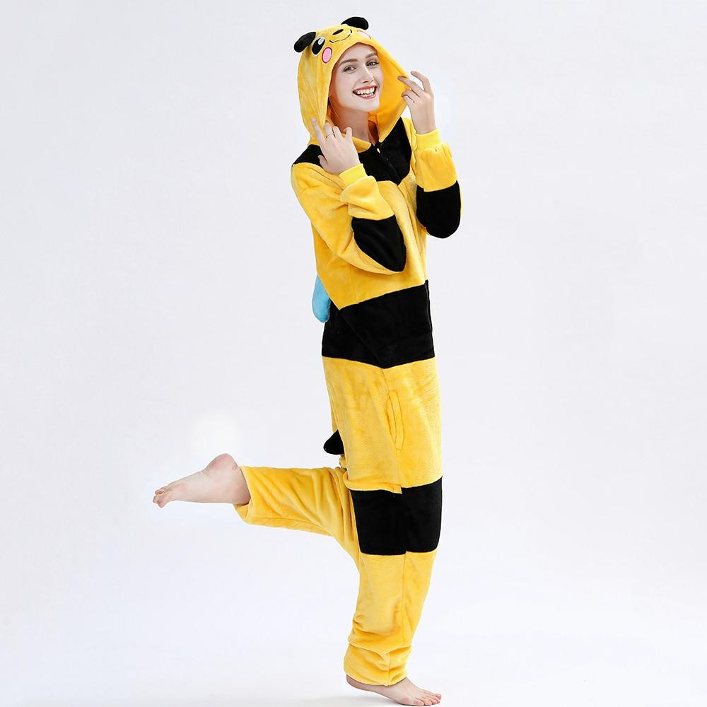 Kigurumis Women Onesie Sleepwear Pajama Animal Bee Adult Onesies Festival Party Outfit Overall Pyjamas Home wear Clothes 2