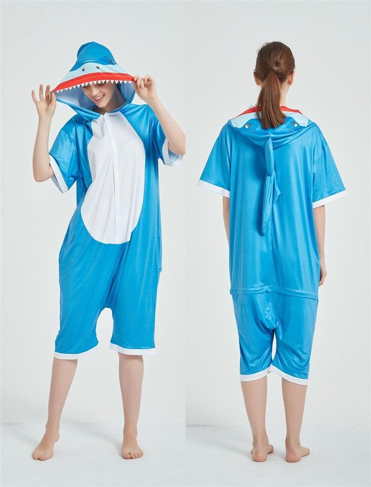 Cosplay Costumes Kigurumis Onesie Jumpsuits Shark Adult Costume Animal Home wear Pajama Funny Cute Oneises Halloween Carnival 7
