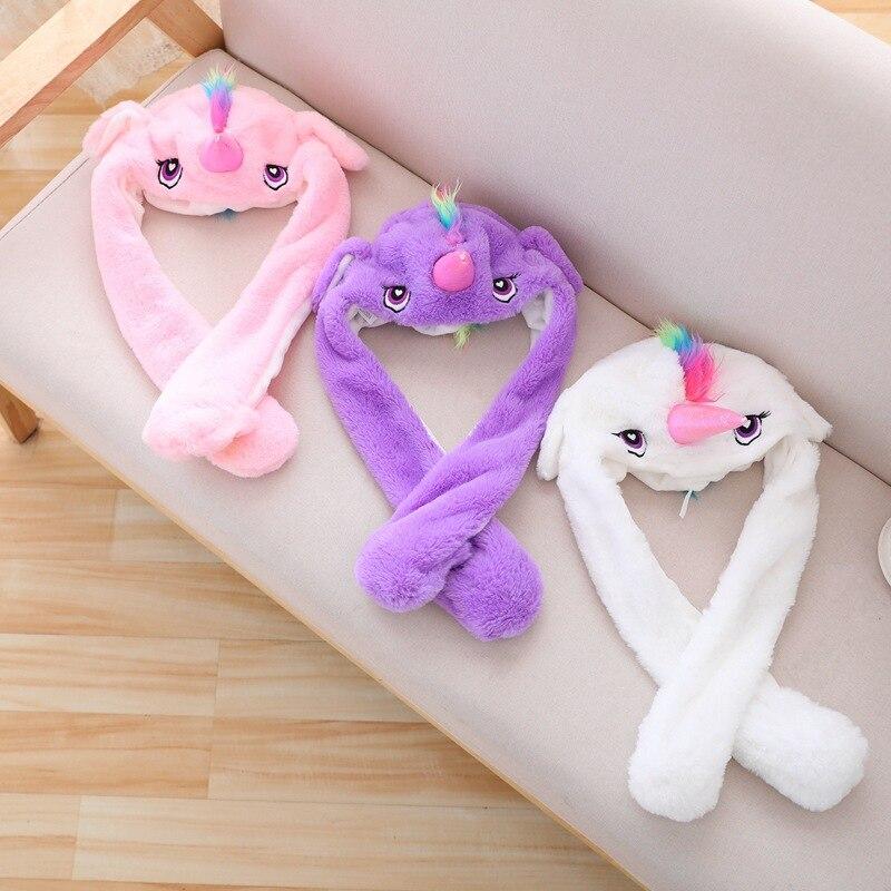 Unicorn Hat Ears Waggle Cute Funny Headgear Women Men Winter Warm Headwear Animal Cosplay Prop 6