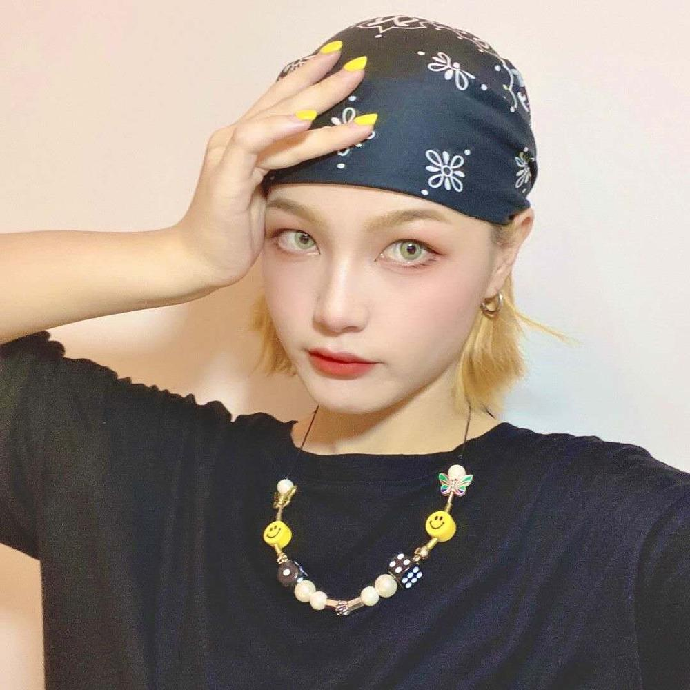 Kpop Fashion Rope Necklace for Men Dice Skull Pearl Yellow Smiley Face Multicolor Butterfly Necklace Hip Hop Bracelet 2020 New 5