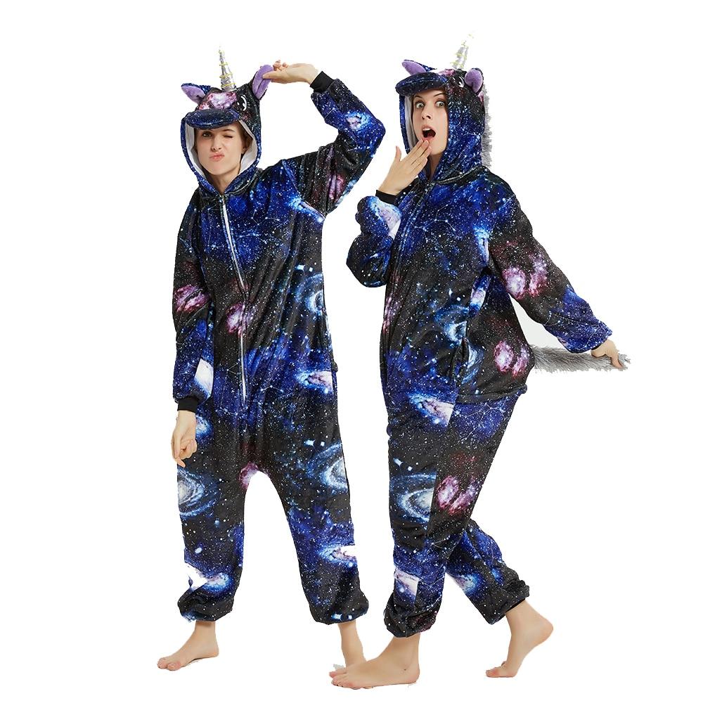 Galaxy Unicorn kigurumis Sleepwear Adult Onesies Homewear Women Cosplay Jumpsuit Party Costume Unisex Clothing 1