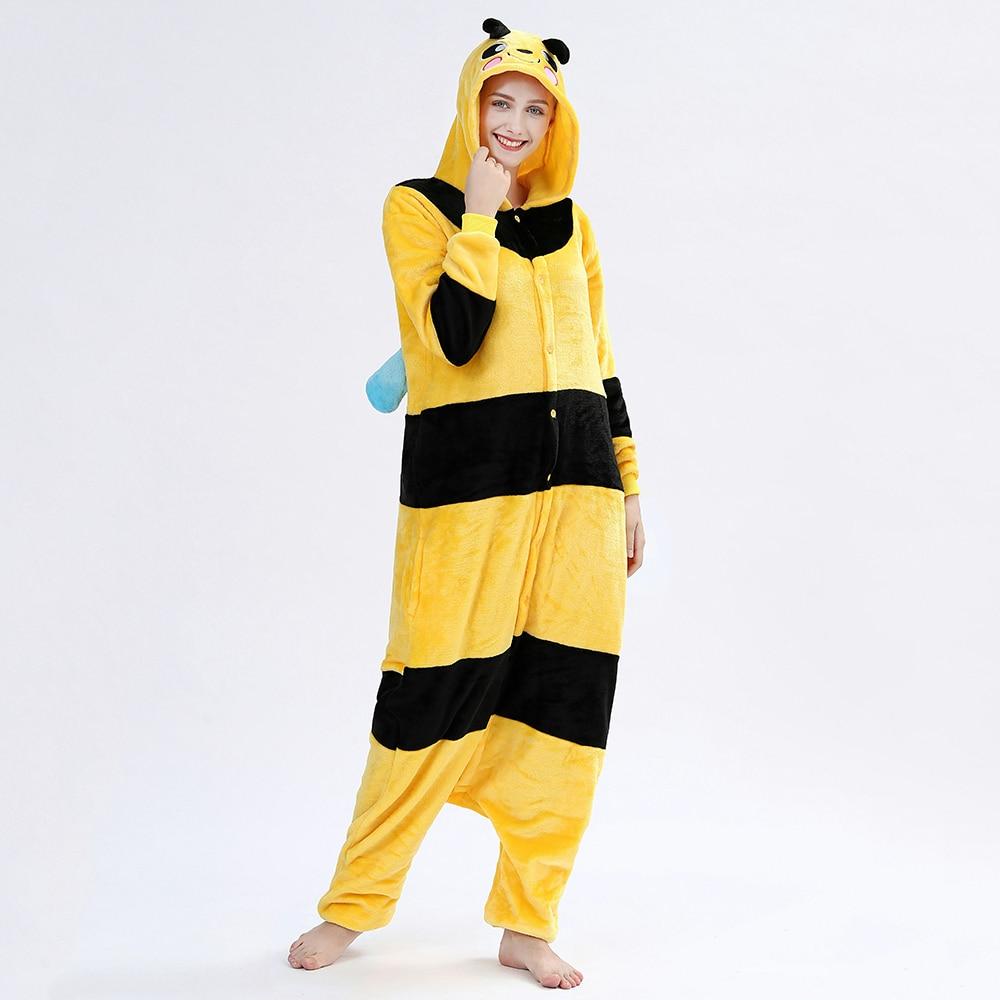 Kigurumis Women Onesie Sleepwear Pajama Animal Bee Adult Onesies Festival Party Outfit Overall Pyjamas Home wear Clothes 1