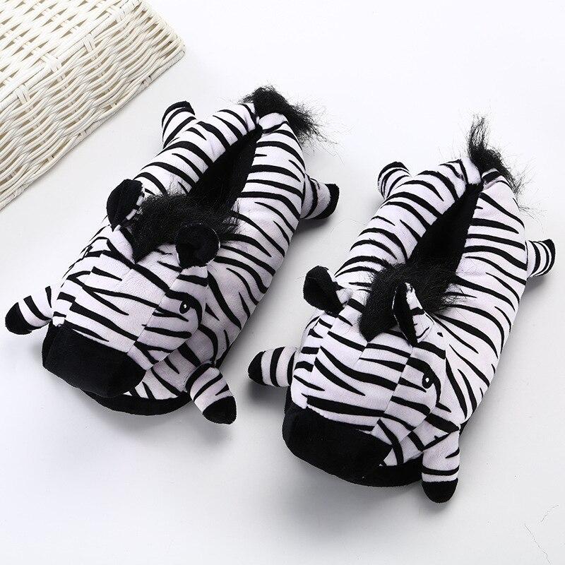 Animal Slippers Adult Kigurumis kawaii Home Shoes Cartoon Cute Unicorn Supplies Cosplay Shoes Winter Warm Pajama Women Shoes 3
