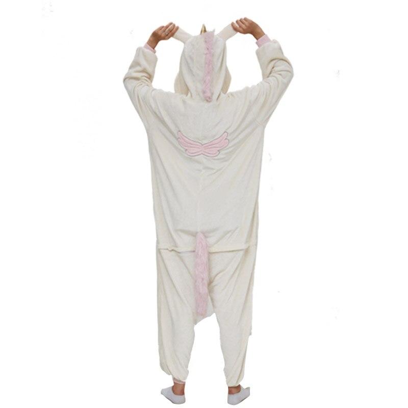 Golden Unicorn women pajama suit Adult Animal kigurumis Night Sleepwear winter Warm Homewear onepiece Party Cosplay Costume 4