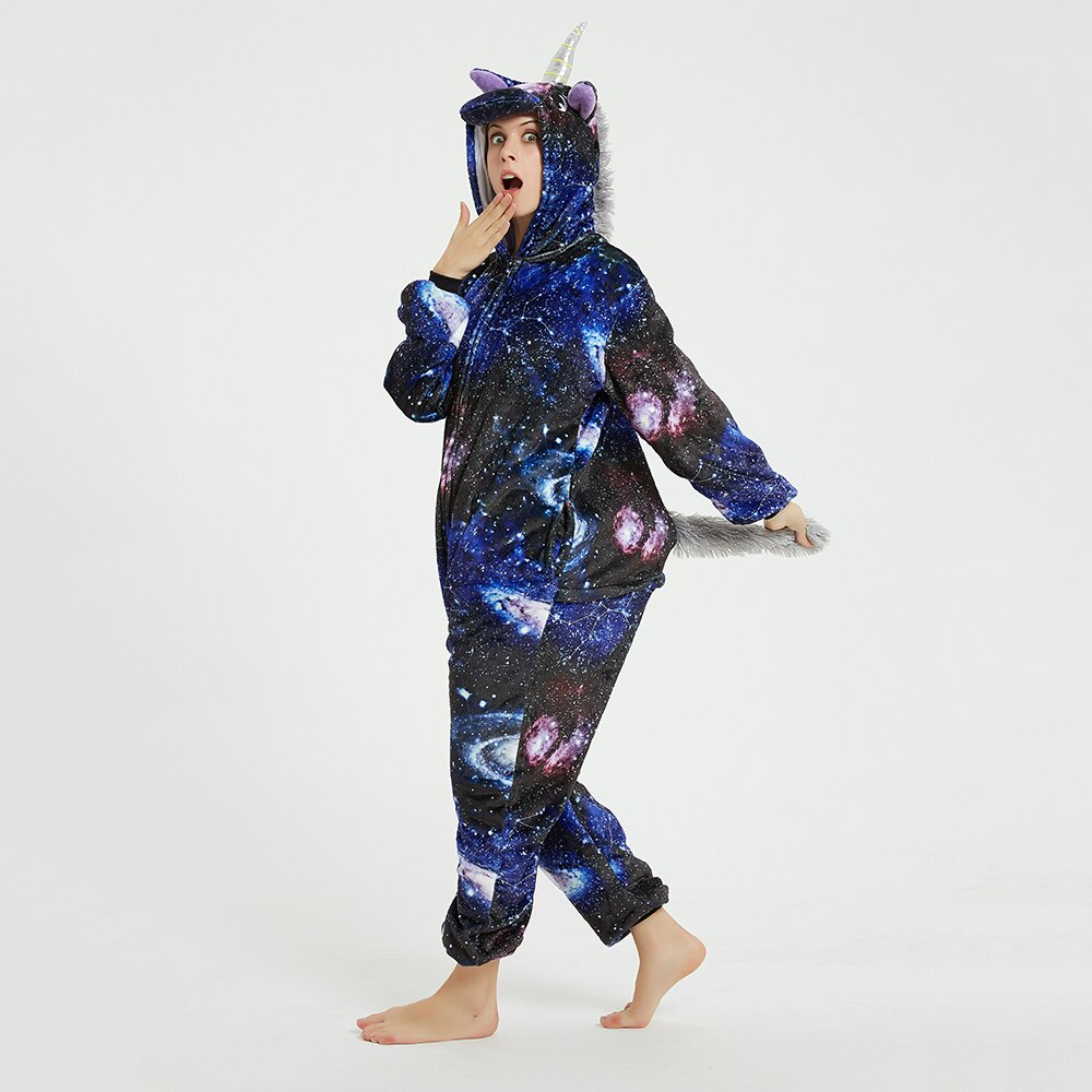 Galaxy Unicorn kigurumis Sleepwear Adult Onesies Homewear Women Cosplay Jumpsuit Party Costume Unisex Clothing 4