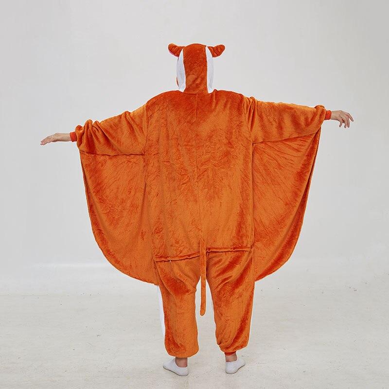 Kigurumis Women Pajama Animal Flying Rat Onepiece Men Adult Flannel Winter Sleepwear Wings Cosplay Funny Homewear Costume Appare 5
