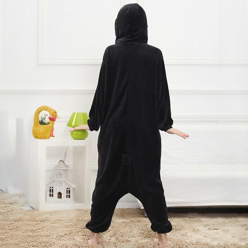 Winter Pajama Penguin Kigurumis Onesie Animal Black Funny Jumpsuit Women Girls Sleepwear Home Overalls Carnival Adult Outfit 3