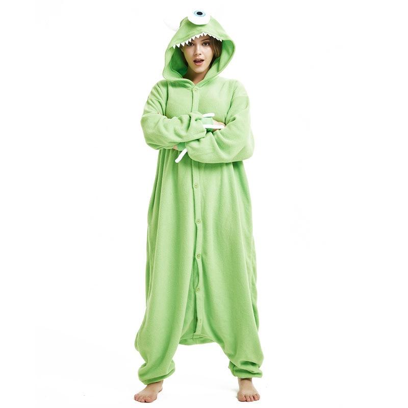 Animal Pajamas Women Men Onesie Anime One Eye Monster Kigurumis Funny Jumpsuit Sleepwear Unisex Adult Winter Festival Pyjamas 1