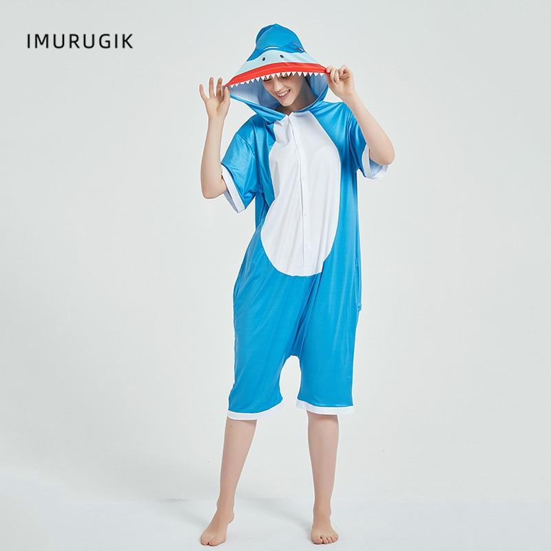Cosplay Costumes Kigurumis Onesie Jumpsuits Shark Adult Costume Animal Home wear Pajama Funny Cute Oneises Halloween Carnival 1