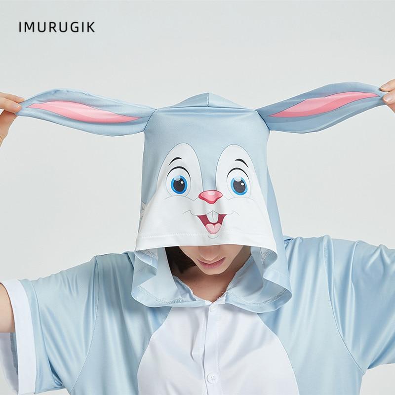 Cosplay Costumes Kigurumis Onesie Jumpsuits Rabbit Adult Costume Animal Home wear Pajama Funny Cute Oneises Halloween Carnival 6