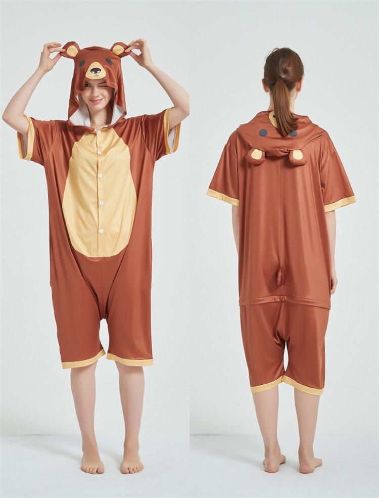 Cosplay Costumes Kigurumis Onesie Jumpsuits Bear Adult Costume Animal Home wear Pajama Funny Cute Oneises Halloween Carnival 7
