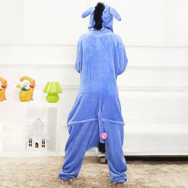 Cartoon Women Pajamas Onesie Animal Donkey Kigurumis Sleepwear Funny Cute Home Jumpsuit Winter Pyjamas Warm Clothes  Overall 2