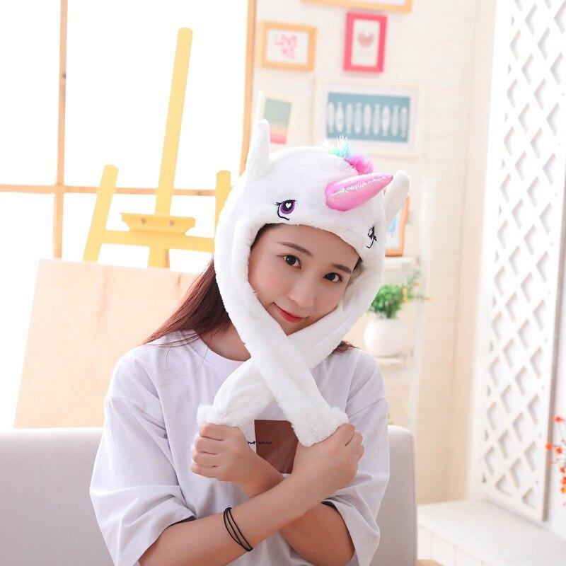 Unicorn Hat Ears Waggle Cute Funny Headgear Women Men Winter Warm Headwear Animal Cosplay Prop 2