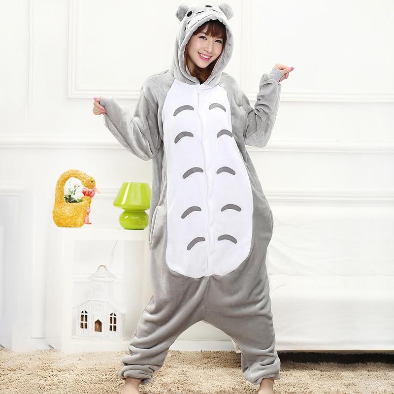 Anime  Onesie Animal Gray Cat Kigurumis Women Girl Cute Pajama Home Jumpsuit Winter Warm Sleepwear Overall Festival Outfit 1