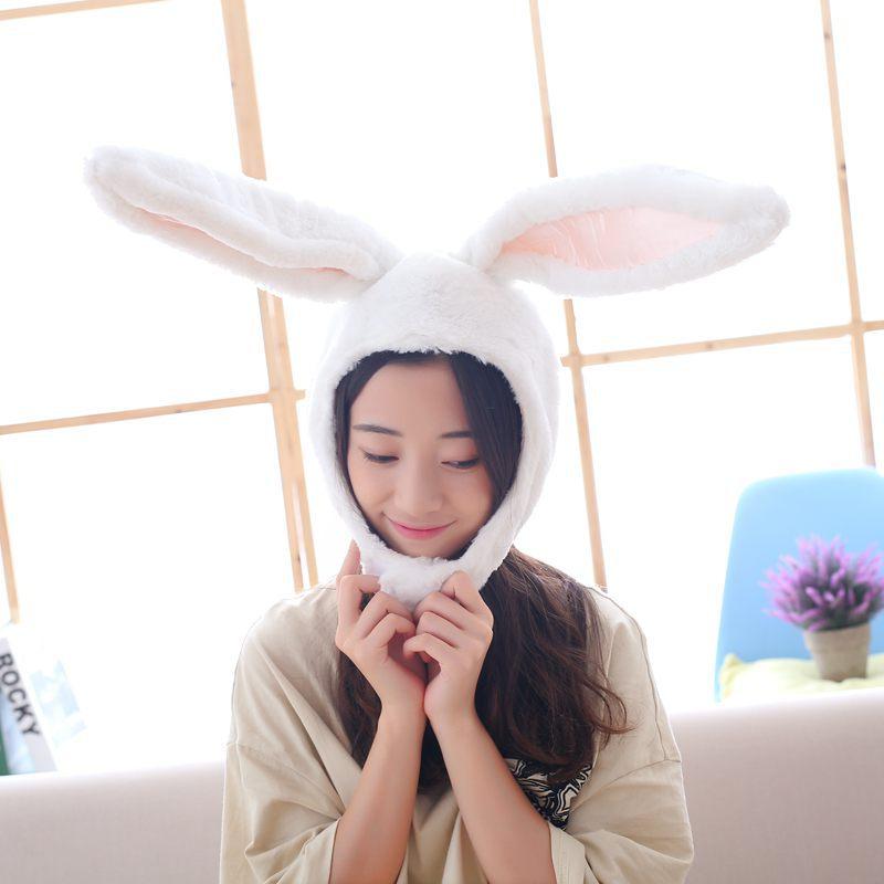 Cartoon Rabbit Hat Cosplay Funny Hats Kawaii Headgear  Headwear Women Men Adult Halloween Festival Party WarmCaps Plush 1