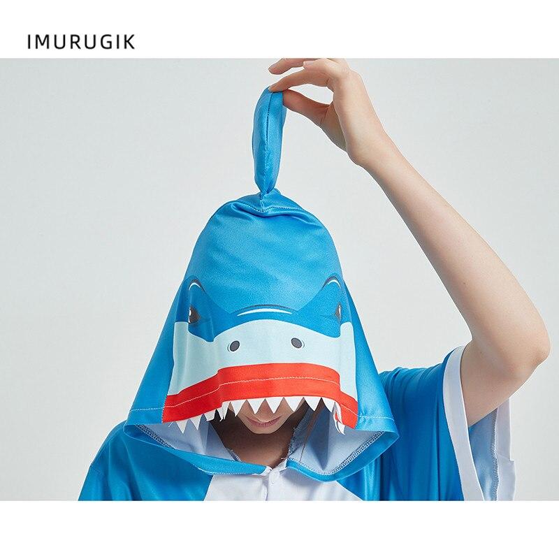 Cosplay Costumes Kigurumis Onesie Jumpsuits Shark Adult Costume Animal Home wear Pajama Funny Cute Oneises Halloween Carnival 6