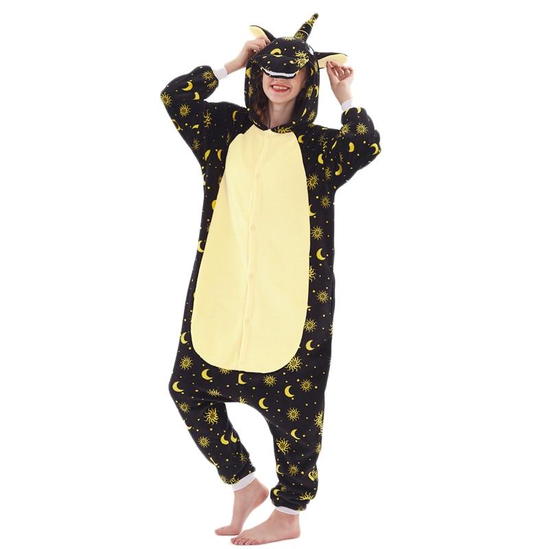 Galaxy Unicorn Women Pajama Suit kigurumis Pegasus Adult Night Sleepwear winter Warm Homewear onepiece Party Costume 1