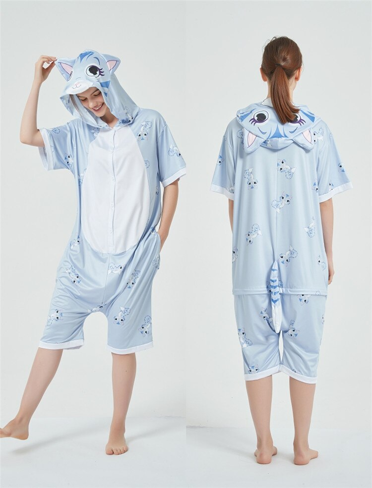 Cosplay Costumes Kigurumis Onesie Jumpsuits Cat Adult Costume Animal Home wear Pajama Funny Cute Oneises Halloween Carnival 6
